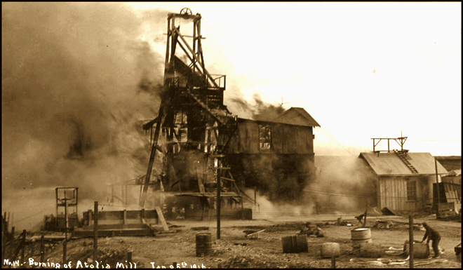 The Atolia Mining Company's New Mill Completed In Late 1915 Burnt To The Ground In January of 1916. Collection of Kern County Museum