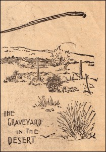 Picture of the Rand District Cemetery As It Appeared In the San Francisco Examiner in December of 1896. Collection of the Rand Desert Museum