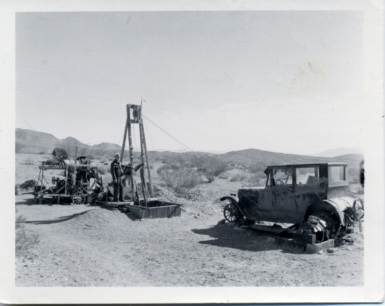 Mr. Perry in wash at Randsburg in 1948.