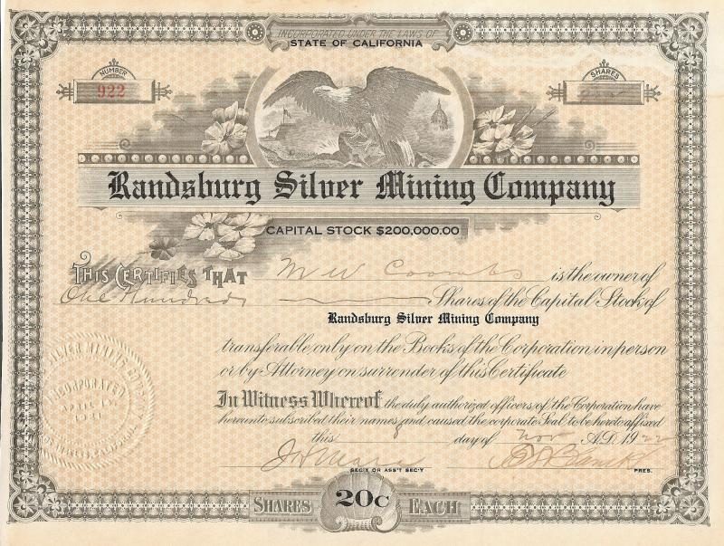 Rand Silver Mining Company